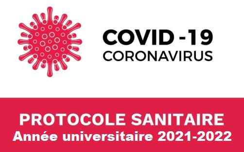 Protocole de gestion de l'année universitaire 2021-2022 sous Covid 19